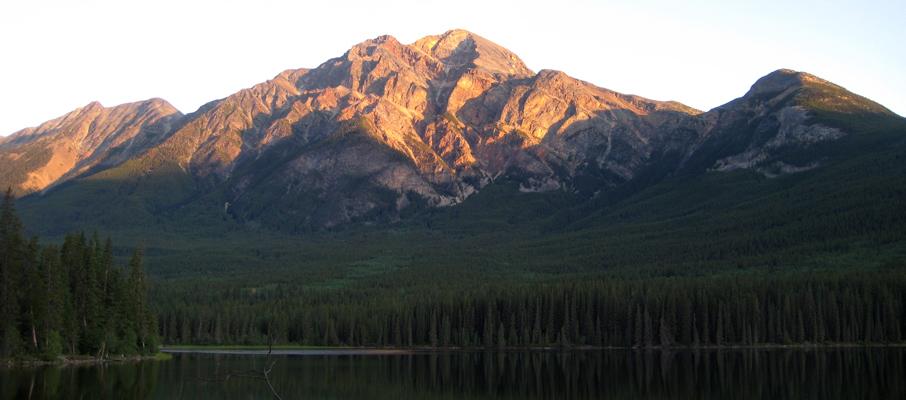 Pyramid Mountain at dawn from the shores of Pyramid Lake