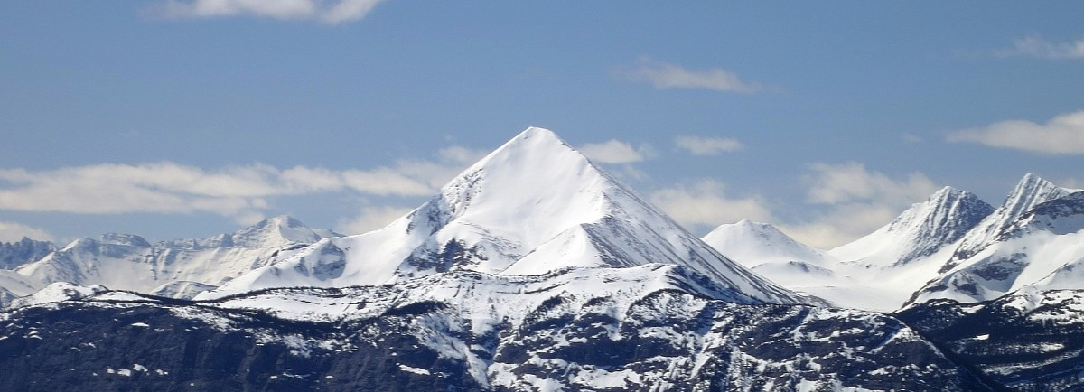 The mountain's naming is most readily understood when viewed from the east on Mt. Greenock.