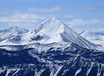 Pyramid Mountain from Mt. Greenock in Jasper National Park