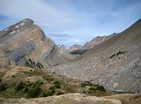 Gazing beyond Nigel Pass into the Brazeau River Valley