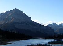 Tangle Ridge from the Icefields Parkway in Jasper National Park
