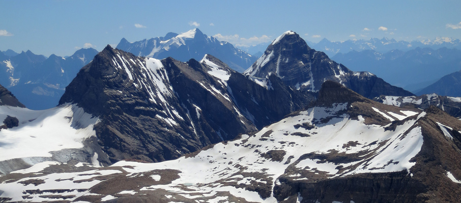A view of Marpole and Carnarvon with Mt. Kerr in the foreground from Mt. McArthur