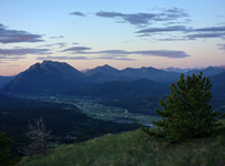 Turtle Mountain and the Town of Blairmore from Mt. Saskatoon