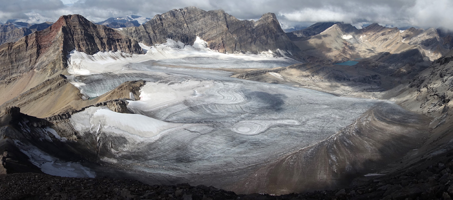 The Stunning Clearwater Glacier from Mt. Willingdon