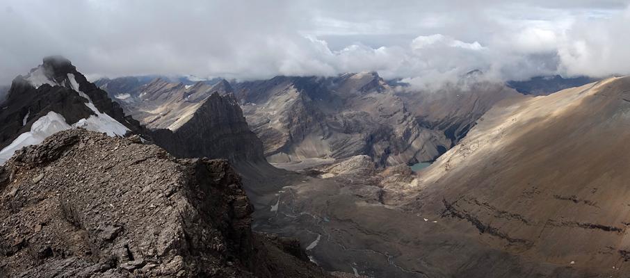 The Badlands Behind Mt. Willingdon from Crown Peak