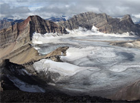 The Clearwater Glacier from the summit of Mt. Willingdon