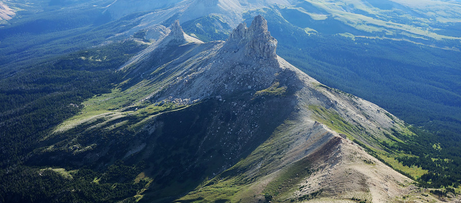A lovely view of Squaw Mountain from the summit.