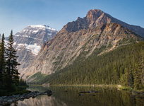 Edith-Cavell and Mt. Sorrow from Cavell Lake