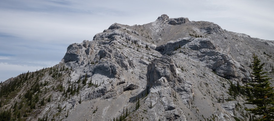 You won't get your first clear view of McGillivray until you've gained a lower ridge on Skogan's northwest flanks.